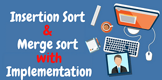 insertion sort and merge sort in c++